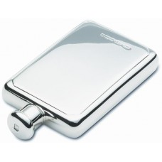 Large Rectangular Silver Hip Flask