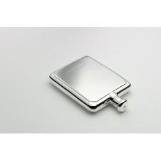 Small Rectangular Silver Hip Flask