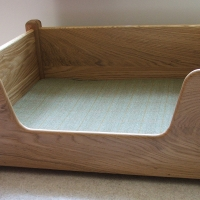 Custom Oak Dog Bed
